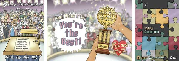 Trophy Mom Mothers Day Cards